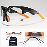 ToolFreak-Finisher Clear Safety Glasses, Eye Protection thats Ultra Light and Better Fit | UV Protection | Treated to Help Reduce Fog and Scratch | Perfect for Work & Sport ++ Accessories