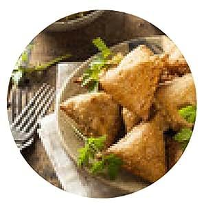 alfombrilla de ratón Casera indio frito Samosas - ronda - 20cm