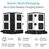 BESTEK USB Power Strip 8-Outlet Surge Protector 1500 Joules with 40W/8A 6 USB Charging Station,ETL Listed