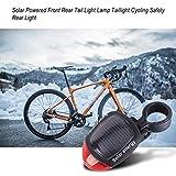 Leruyx Lámpara de luz Trasera de Bicicleta Trasera de Alta Potencia con luz Solar Luz Trasera Impermeable LED Brillante Ciclismo Bicicleta Luz Trasera de Seguridad Nocturna
