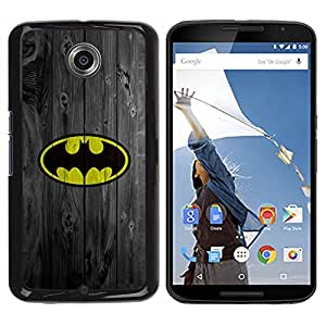 Design for Girls Plastic Cover Case FOR NEXUS 6 / X / Moto X Pro Superhero Bat Wood Retro Vintage OBBA