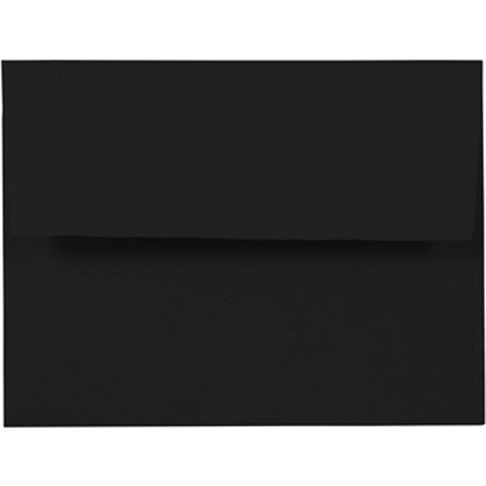 JAM Paper A2 Invitation Envelopes - 4 3/8'' x 5 3/4'' - Smooth Black - 1000/carton