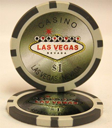 MRC 650pcs Las Vegas Laser Poker Chips Set with Aluminum Case