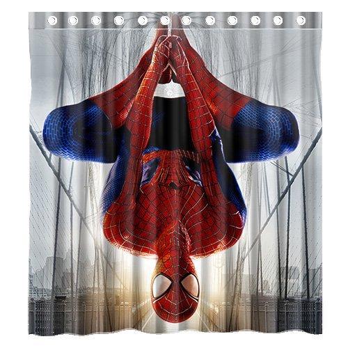 Amazing spiderman curtains curtain menzilperde net for Spiderman bathroom ideas