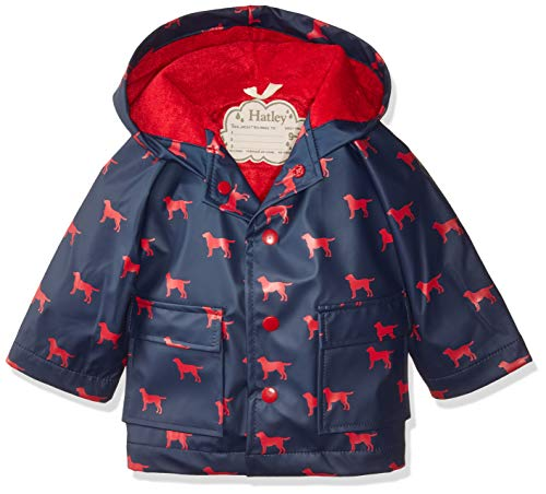 Hatley Baby Boys Printed Raincoats, red Labs, 9-12 Months
