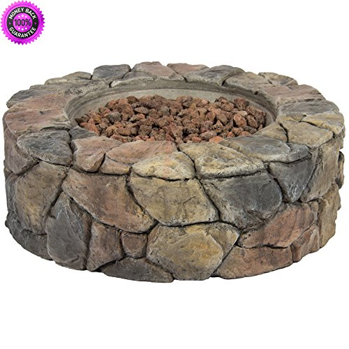 Cheap  DzVeX Stone Design Fire Pit Outdoor Home Patio Gas Firepit And chiminea..