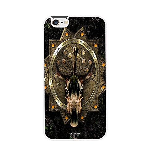 DH-hoping (TM) cell phone case for Iphone 6 plus 5.5 High Impackt Combo Soft Silicon Rubber Hybrid Hard Pc & Metal Aluminum Protective Case with The metal head Luxurious Pattern£¨white£© (Versace Zebra)