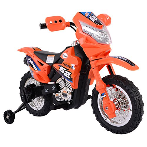 eight24hours-kids-ride-on-motorcycle-with-training-wheel-6v-battery-powered-electric-toy-new-orange