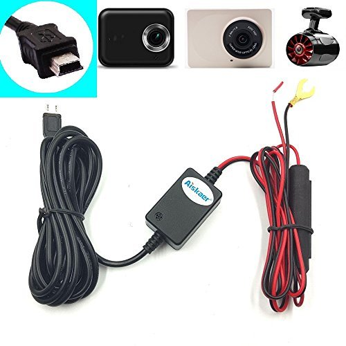 Aiskaer Dash Camera Installation Kit for All Mini-USB Car Cameras Garmin 10 20 30 35 Rexing V1 Mobius G1W Novatek A118