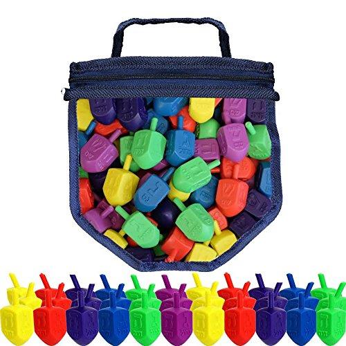 - Hanukkah Dreidel Game 50 Plastic Dreidels With Game Play Instructions including Reusable Draydel Shaped Bag
