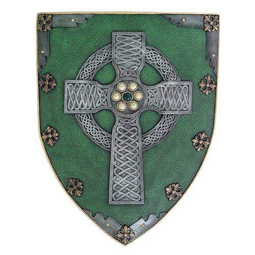 Shields Wall Sculpture (Celtic Cross Warriors Faith Shield Wall Sculpture Decor)