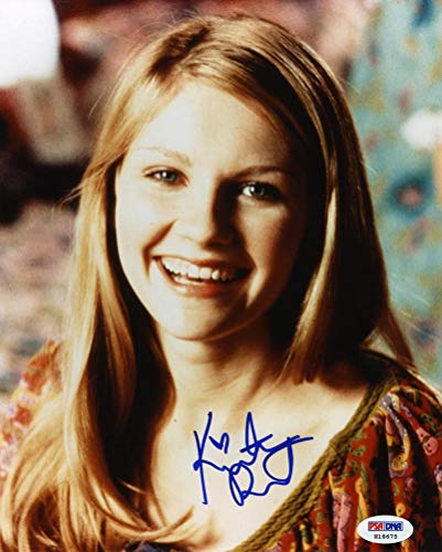 Kirsten Dunst Signed 8x10 Photo Certified Authentic PSA/DNA COA