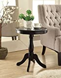 Black Finish Wooden Round Chair Side End Table 18″ Diameter For Sale