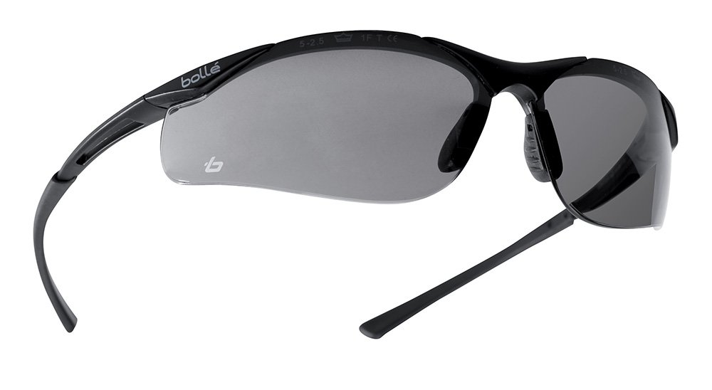 93d228524b9 Bollé Safety 253-CT-40045 Contour Safety Eyewear with Semi-Rimless Nylon  Frame and Smoke Anti-Fog Lens - Safety Glasses - Amazon.com