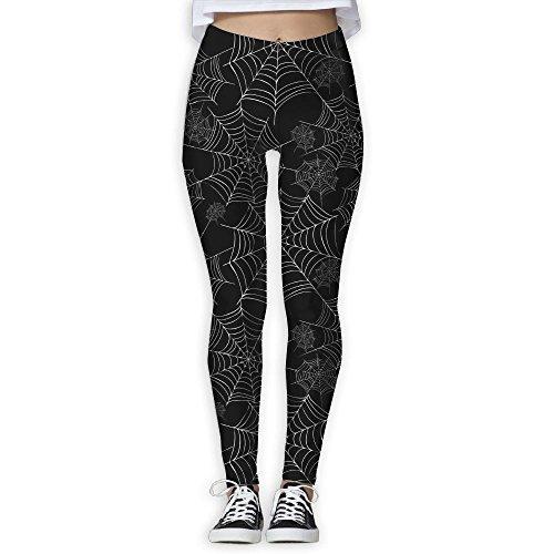 Eplus Spider Web Womens Fitness Power Yoga Pants Full Length Yoga Workout Leggings