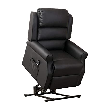 Enjoyable Abreo Brown Or Black Bonded Leather Electric Riser Recliner Mobility Chair Lift And Rise Tilt Recline Black Creativecarmelina Interior Chair Design Creativecarmelinacom