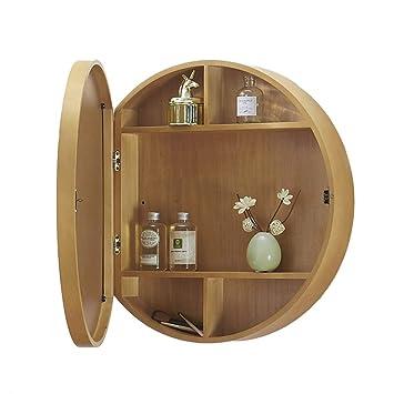 Xing Hua Home Spiegel Badezimmer Spiegelschrank Badezimmer Spiegel Mit Regal Spiegelschrank Lagerung Schminkspiegel Wandbehang Color Wood Color