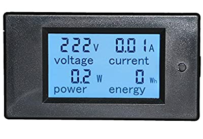 Yeeco LCD Digital Display Voltmeter Ammeter AC 80-260V 20A Current Voltage Monitor Power Energy Multimeter with Built-in Shunt