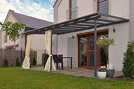 Fonteyn - Porche de aluminio (550 x 300 cm), color gris ...
