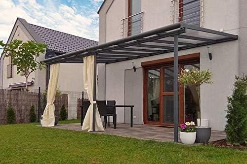 Fonteyn - Porche de aluminio (550 x 300 cm), color gris: Amazon.es ...