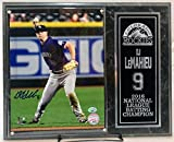 Colorado Rockies D.J. LeMahieu Autographed Signed 8x10 Photo with Deluxe Plaque