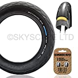 Puncture Protected ''Kid Plus'' Stroller / Push Chair / Buggy / Jogger Tire - 12 1/2'' x 1.75 (Black) Super Grippy & Fast Rolling + FREE Shipping + FREE Upgraded Skyscape Metal Valve Caps (Worth $4.99)