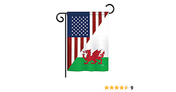Amazon Com Breeze Decor Us Wales Friendship Flags Of The World Everyday Impressions Decorative Vertical Garden Flag 13 X 18 5 Printed In Usa Garden Outdoor