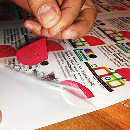 Papel Adhesivo PVC tamaño A6 (14,8 cm X 10,5 cm) hojas de ...