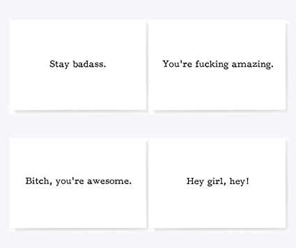 Amazon Stay Badass Motivational Mini Greeting Cards Variety