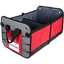 Car Trunk Organizer,FLAGPOWER Car Trunk Cargo Auto Organizer Multipurpose Heavy Duty Deluxe Folding Caddy Storage Collapse Bag Bin for Car SUV Minivan Truck Indoor and etc(Red)