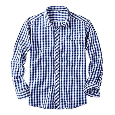 Men's Standard-Fit Plaid Button Down Dress Shirt