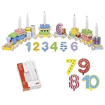 Die LuLuGoS - Juego de tren con 10 velas del 1 al 10 para ...