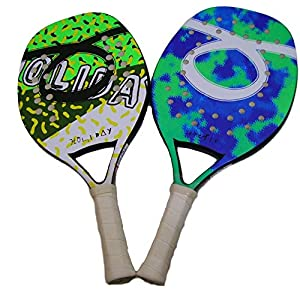 Tom Caruso Outride Coppia Racchette Beach Tennis Racket Holiday Arctic Insider Tropic Senza Custodia 5 spesavip