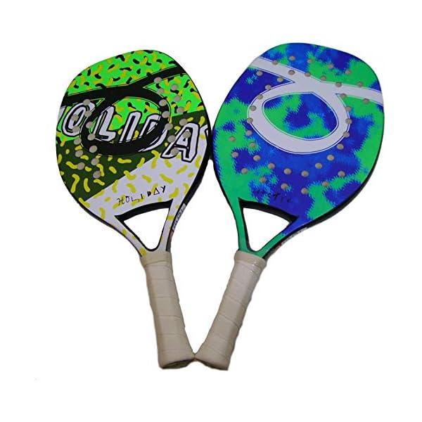 Tom Caruso Outride Coppia Racchette Beach Tennis Racket Holiday Arctic Insider Tropic Senza Custodia 1 spesavip
