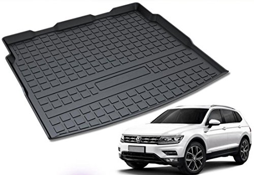 Ice-man Rubber Rear Trunk Cargo Liner Floor Mat Cover For VW Volkswagen Tiguan L 2017 Tiguan 2018 (Rear Cargo Liner Floor Mat Cover) (Cover Door Handle Tiguan)