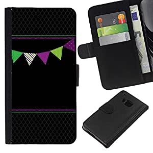 All Phone Most Case / Oferta Especial Cáscara Funda de cuero Monedero Cubierta de proteccion Caso / Wallet Case for HTC One M9 // Black Diamond Pattern