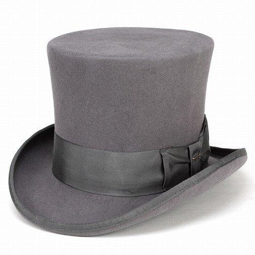 Scala Top Hat - Scala Classico Men's Wool Felt Top Hat,Grey,S