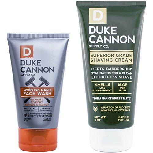 Duke Cannon Face Bundle: Working Man's Face Wash, 4oz + Superior Grade Shaving Cream, 6oz Review