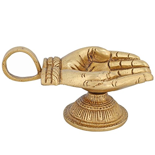 ITOS365 Brass Diyas for Pooja - Deepak for Puja Aarti - Oil Lamp - Pooja Articles Home Décor Item - Showpieces - House Warming Decoration - Religious Diwali Gifts