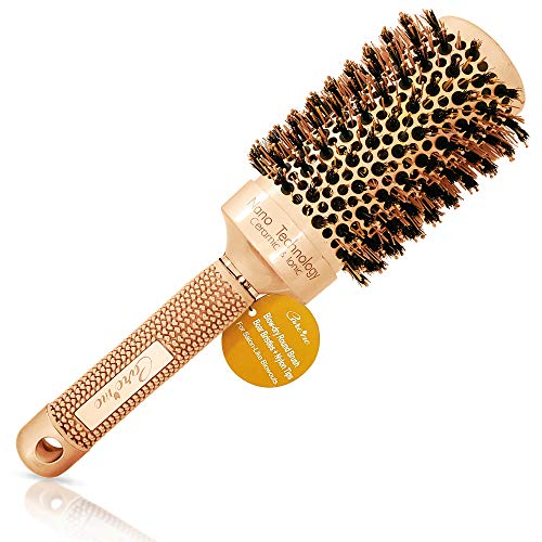 Blow Dry Round Hair Brush with Natural Boar...