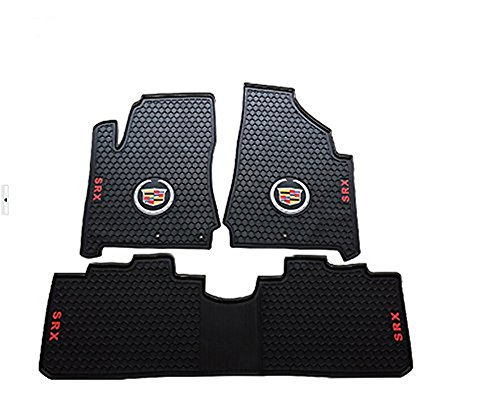 Amooca Liners Custom Fit Heavy Duty Full Set Floor Mat FloorLiner for Select Cadillac SRX Models (Black)