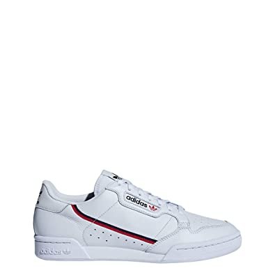 reputable site 435ee 0a633 adidas Continental 80 Mens in Aero Blue Scarlet Navy, 7