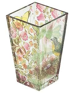 Estudio de la franja París nido florero de cristal en Shannon Rosa/Multicolor