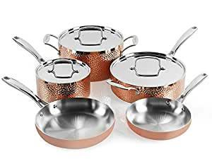Amazon Com Cuisinart Hctp 8w Hammered Copper Set 8 Piece