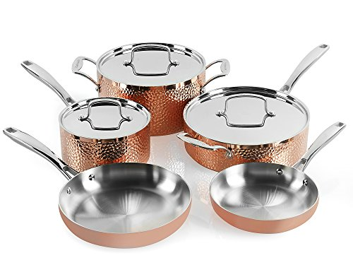 Cookware Hammered Copper (Cuisinart  HCTP-8W Hammered Copper Set (8-Piece))