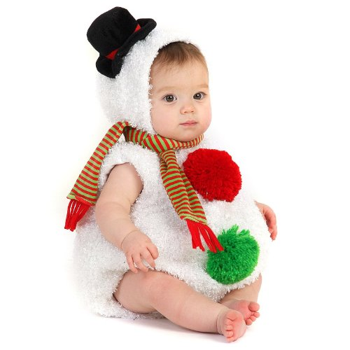 [Princess Paradise Baby's Snowman, White, 6 to 12 months] (Princess Costumes For Babies)