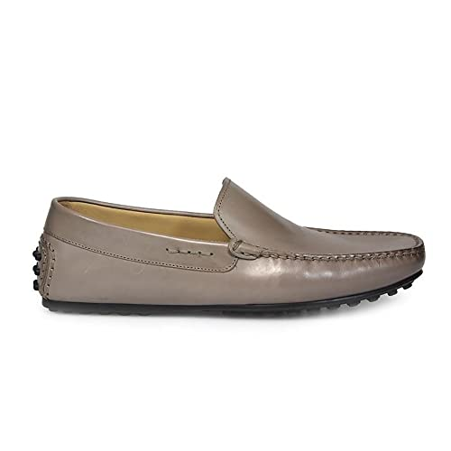 Men's 98027 Grey Leather Loafers