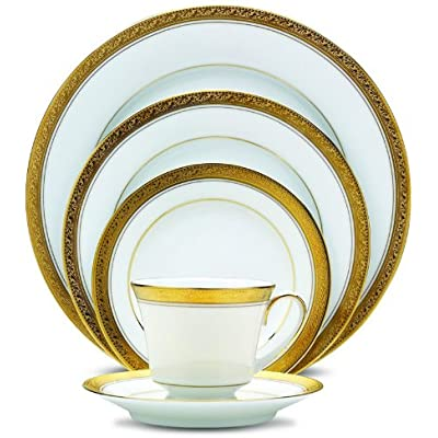 Click for Noritake Crestwood Gold 20-Piece Set, Service for 4