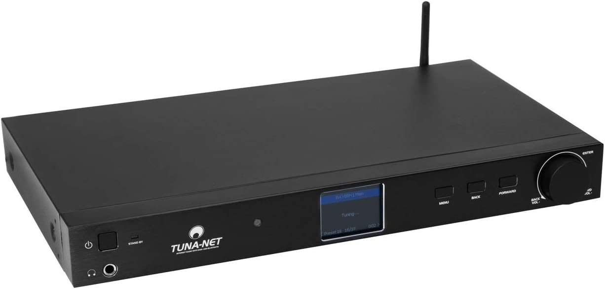 Omnitronic Tuna Net 19 Internetradio Mit Dab Und Bluetooth Internetradio Mit Dab Und Fm Tuner Bluetooth Und Upnp Dlna Unterstützung Heimkino Tv Video