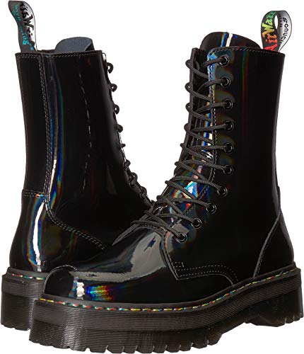 adon Hi Rainbow Patent Black Boot - 9 UK ()